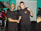 Chief Instructor Nick Evagorou with Master Rob Simpson at the Kuo Shu Chinese Full Contact 2010.