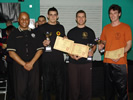 Nick 1st place with runners up at the Kuo Shu Chinese Full Contact Championships 2010.
