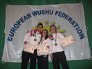 Nick with Gemma Salter and Louise King - Poland 2008